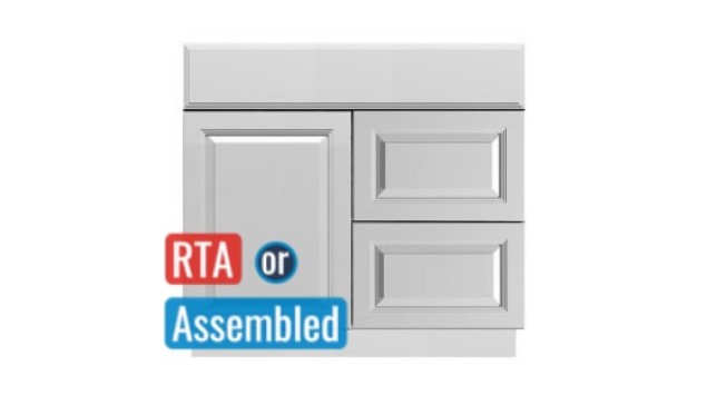 Astoria Light RTA Vanity Bath cabinets