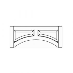 "Raised Panel Door Valance 48""W"