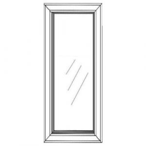 "1 Glass Door w/ Textured Glass 18""W