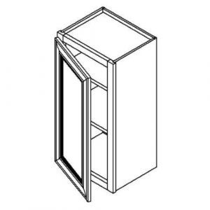 "Single Door Wall Cabinet 18""W