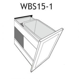 "Waste Basket Insert for a 15"" Base Cabinet"