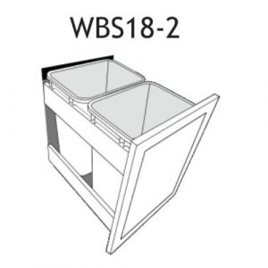 "Waste Basket Insert for a 18"" Base Cabinet"