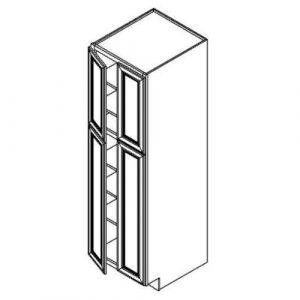 "2 Door Tall Pantry Cabinet w/o Drawer 24""W