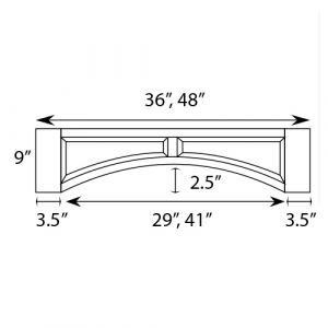 "Raised Panel Valance 48""W