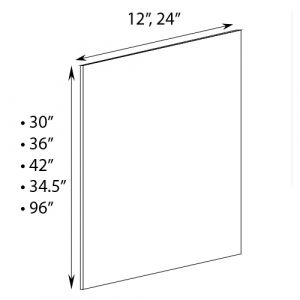 "Tall Pantry Side Skin 24""W