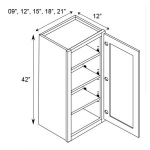 "Single Door Wall Cabinet 12""W