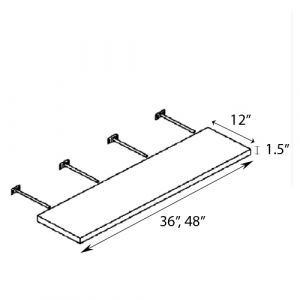"Wall Shelf 36""W