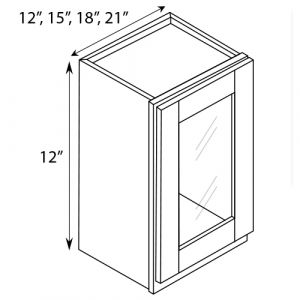 "Wall Glass Door Cabinet 18""W