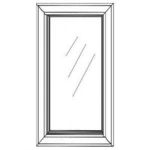 "1 Glass Door w/ Textured Glass 15""W