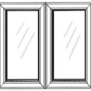 "2 Glass Doors w/ Textured Glass 27""W
